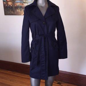 H&M Navy w/Black Trench Coat